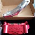 Kaliper Radial 4 Piston include bracket New vixion red