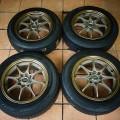 Velg Volkrays Ce28 R15 Bronze Plus Ban Dunlop LM703