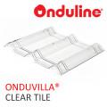 GENTENG ONDUVILLA TRANSPARANT - CLEAR TILE (496 x 400 mm) - FREE SEKRUP 2 PCS