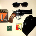 pistol Air gun...revolver & FN co2 made in lokal, peluru mimis silender 4,5 mm