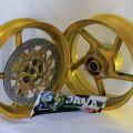 Velg Delkevic single Disc 5-3,5 inch gold ninja 250-300