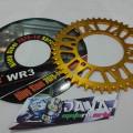 Gear belakang WR3 (Gold) Ninja250/ Z250 & Yamaha R25/ MT25