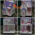 Mainan Anak Rumah Barbie Villa Kecil Dollhouse