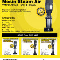 Mesin Steam Air untuk usaha cuci mobil dan motor Merk Ikame