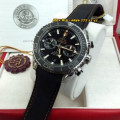 Omega Sea Master 543856 BLack Leather SVRGRYDBLK