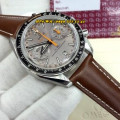 Omega Speed Master 329034 Leather SVLBLKDGRYORN