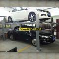 LIFT PARKIR MOBIL Carport 4 TIANG , tinggi angkat 1,7 meter