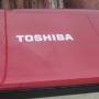 Jual laptop toshiba L 645 'warna merah' core i3 (Surabaya)
